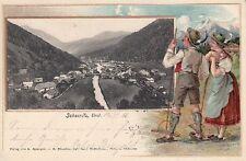 35525- Prägedruck Karte Scharnitz in Tirol Bezirk Innsbruck-Land 1906