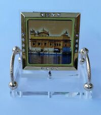 Golden Temple Darbar Sahib Ji Photo Portrait Sikh  Desktop Chair Stand A5 Singh