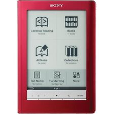 Sony Touch Edition PRS-600 Wi-Fi 6in Digital eReader Tablet - Red