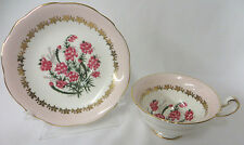 Rare EB Foley English Bone China Pink Tea Cup and Saucer Unbloomed Heather