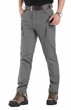 New Mens Soft shell Outdoor Pants Cotton Breathable Hiking Outdoor Trousers