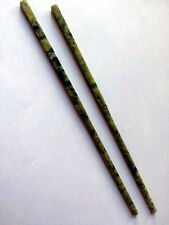 TWO Pairs of Vintage Chinese Carved Green Jade Chopsticks in Gift Boxes