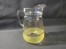 Ancien pot à eau pichet en verre de style école vintage cantine french antique
