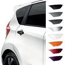 Genuine Nissan Micra 08/13  Rear Door Handle Covers - Piano Black (KE6051K053BK)
