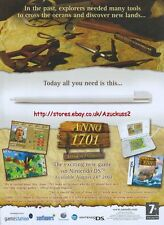 "Anno 1701 Dawn Of Discovery ""Nintendo DS"" 2007 Magazine Advert #4918"