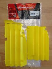 SUZUKI RMZ 250  RM250Z 2010-2016 POLISPORT RADIATOR LOUVRES RAD GUARDS YELLOW