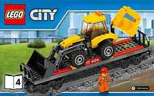 LEGO City Backhoe Wagon carriage - from 60098 Heavy Haul Train - No Box