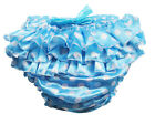 Haian ABDL PVC & Satin Ruffle Rhumba Pull on Plastic Pants Color Blue