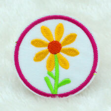 NEW Sunflower Fabric Embroidered Iron On Patch Motif Applique Embroidery