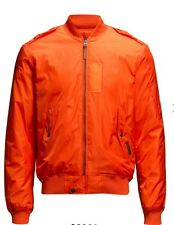 NWT $295.00 Polo Ralph Lauren Mens St Barth Military Bomber Jacket Orange Sz M