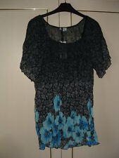 *ROGERS & ROGERS* - SHORT SL.TUNIC TOP AND CAMISOLE SET-SIZE 20-BLACK MIX-NEW