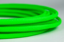 5 meter Shakmods Round 4 mm High Density UV Green Braided Expandable Sleeving UK