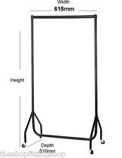muy resistente MÁS Alto Perchero 0,6 m Largo 2,1m Metal Prendas Vestido Raíl