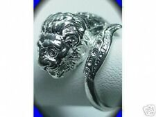 LOOK Thailand Dragon Lion Sterling Silver Buddha Ring Buddha