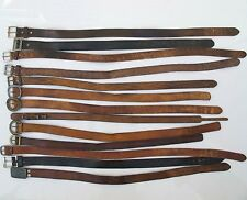 Wholesale Lot of 13 Vintage Tooled Leather Cowboy Western Hippie Belts