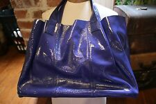 Francesco Biasia purple calf leather handbag, NWOT detachable cloth lining