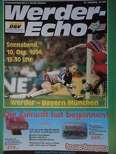Programm 1994/95 SV Werder Bremen - Bayern München