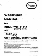 Triumph workshop service manual 1977 & 1978 TR7V Tiger 750