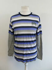LADIES BROOKLYN INDUSTRIES LONG SLEEVE STRIPY T-SHIRT SIZE 16 BOX8431 H