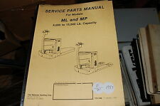 YALE Model ML MP 4000-15000 Lbs Forklift Parts Manual book catalog list spare