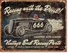 Racing With The Devil metal sign 410mm x 320mm   (de)   Fast dispatch from UK