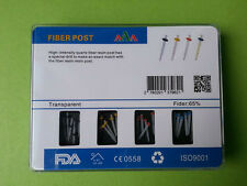 1 Box AAA Dental Promotion Straight Pile Quartz Fiber Resin Post & 4 Drills