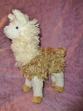 "Llama Paddy O'llama Alpaca Douglas Cuddle Toy 10"" Stuffed Plush White Brown"