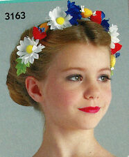 NWT Floral Headpiece Bun Wrap Wired Field Flowers Germanic Heidi Copellia Ballet