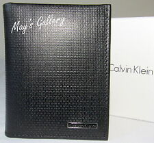 Calvin Klein Passcase Wallet BiFold lD Holder Leather Purse Bag case Men CK NIB