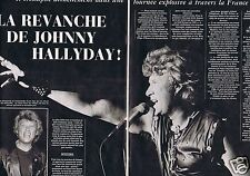 Coupure de presse Clipping 1982 Johnny Hallyday  (3 pages)