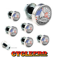 7 Pcs Billet Fairing Windshield Bolt Kit For Harley - 911 EAGLE USA FLAG - 040