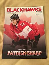2013-14 2014 Olympians Patrick Sharp Canada CHICAGO BLACKHAWKS Magazine Program