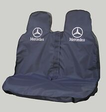 MERCEDES SPRINTER  PASSENGER DOUBLE SEAT COVER - HEAVY DUTY WATERPROOF IN BLACK