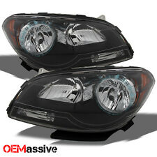 08-12 Chevy Malibu Replacement Black Headlights Headlamps Left + Right