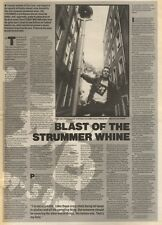 7/10/89Pgn19 Article & Picture Joe Strummer Tells All 'blast Of The Strummer Whi