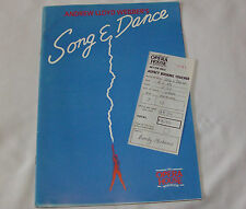 Andrew Lloyd Webber's Song and Dance Theatre Programme Opera House 1988