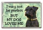 """Patterdale Terrier Dog Fridge Magnet """"I may not be perfect ......."""" by Starprint"""
