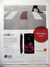 PUBLICITE-ADVERTISING :  LG G Flex2  2015 Smartphone