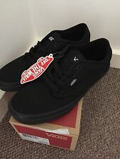 Genuine Black Atwood Vans Size 4.5 Brand New