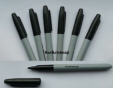 6 x BRANDED PERMANENT MARKER PENS BLACK COLOURS FINE POINT TIP Sharpie Mixed - P