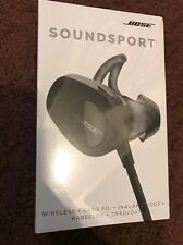 NEW Bose SoundSport Wireless Bluetooth Earbuds Headphones Black FREE SHIP
