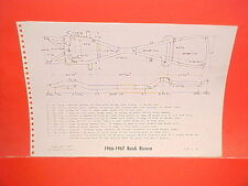 1966 1967 BUICK RIVIERA GS GRAN SPORT HARDTOP COUPE FRAME DIMENSION CHART