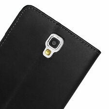 Black genuine wallet leather case for Samsung Galaxy Note 3 Neo SM-N7505 g