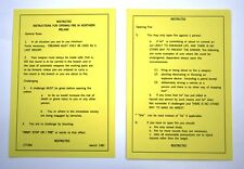 Operation Banner, Northern Ireland Un-laminated Yellow Card
