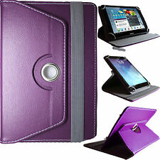 "Universal Leather Stand 360° Folding Folio Case Cover Pouch For All 7"" 8""Tablets"