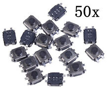 50pcs Tact Momentary No-Lock Push Button Switch SMD 4-Pin For Car Key 3x4x2MM