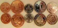 """Isle of Man set of 5 coins 2008 """"1+2+5+10+20 pence"""" UNC"""