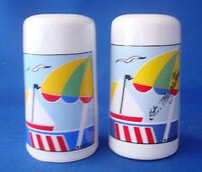 salt and pepper shakers St. Marten souvenir sailboats beach umbrella cylinder