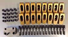 28758-16 Small Block Chevy Crane Gold Rocker Arms/Studs/Adjusters/Guide Plates