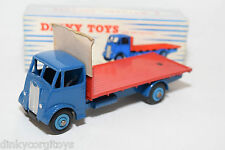P DINKY TOYS 512 GUY FLAT TRUCK BLUE RED MINT BOXED RARE SELTEN